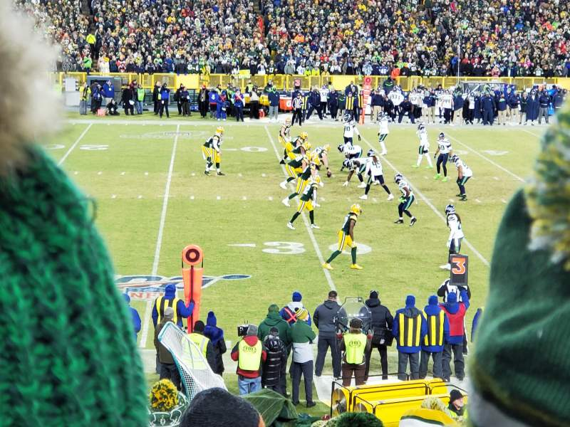 Seating view for Lambeau Field Section 116 Row 24 Seat 5