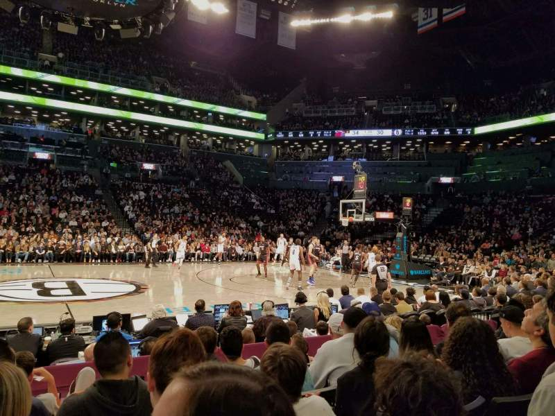 Seating view for Barclays Center Section 8 Row 5 Seat 12