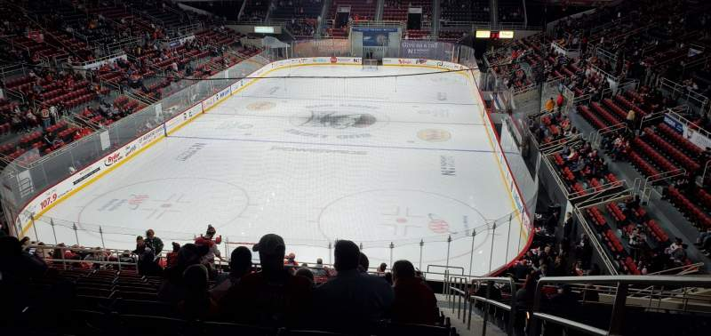 Seating view for Bojangles' Coliseum Section 117 Row R Seat 1