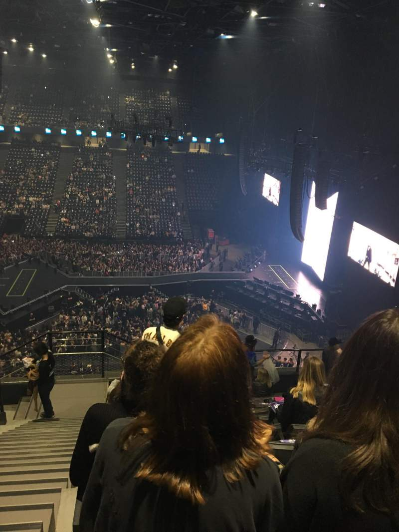 Seating view for AccorHotels Arena Section Balcon F Row 90 Seat 25