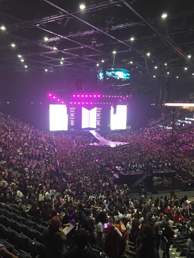 Seating view for AccorHotels Arena Section Balcon S Row 87 Seat 9
