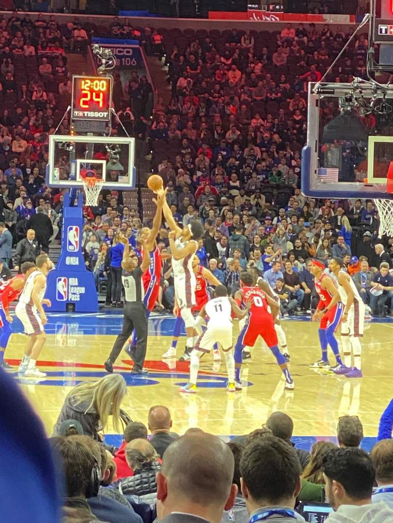 Seating view for Wells Fargo Center Section 118 Row 5 Seat 17-18