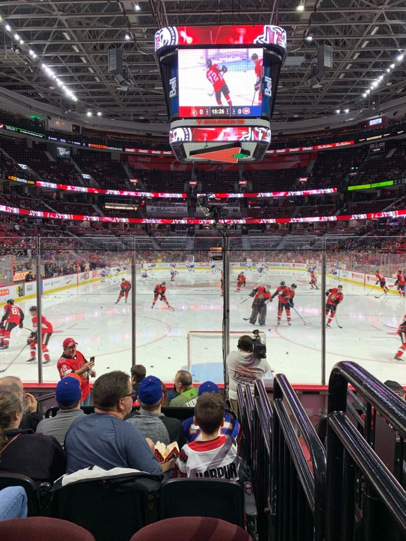Seating view for Canadian Tire Centre Section 101 Row H Seat 11