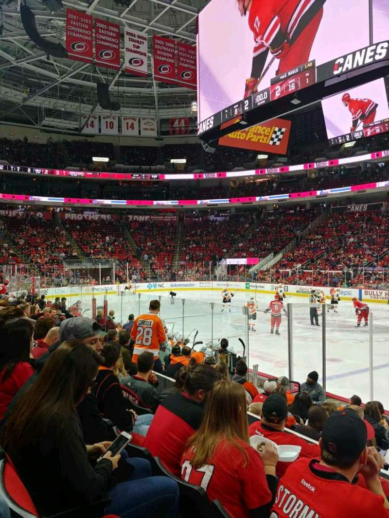Seating view for PNC Arena Section 102 Row J Seat 3