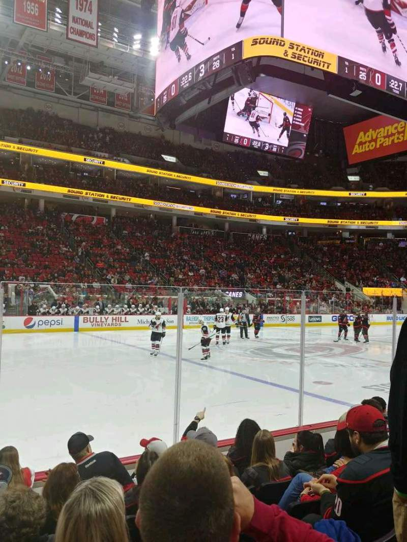 Seating view for PNC Arena Section 121 Row F Seat 11