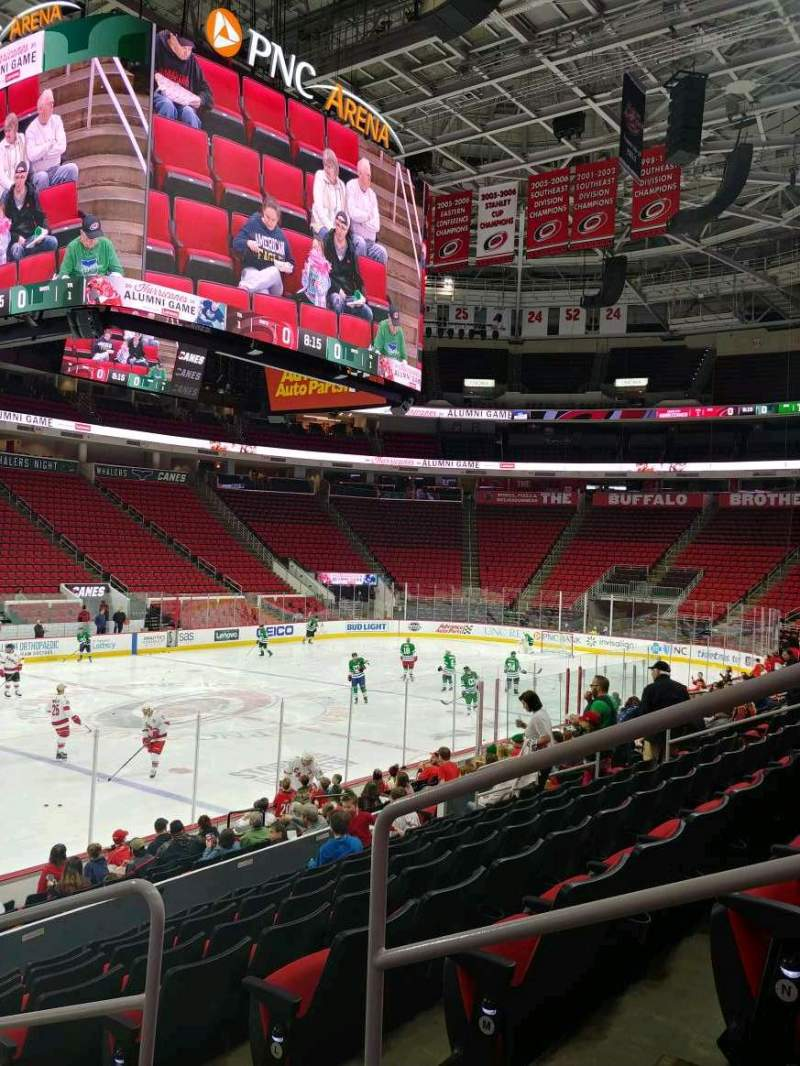 Seating view for PNC Arena Section 122 Row P Seat 3