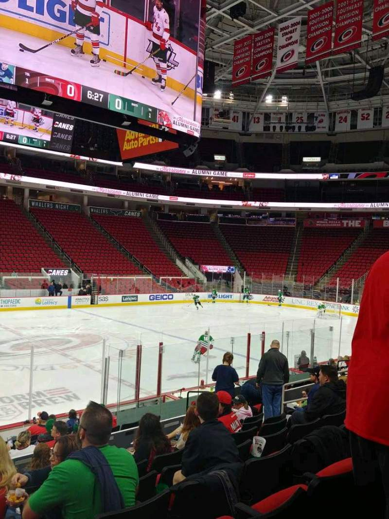 Seating view for PNC Arena Section 120 Row N Seat 13