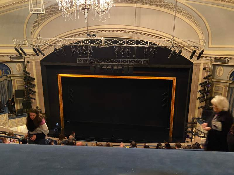 Seating view for Ambassador Theatre Section Rear Mezzanine RC Row C Seat 122
