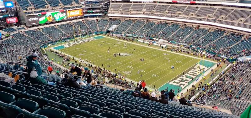 Seating view for Lincoln Financial Field Section 207 Row 28 Seat 14
