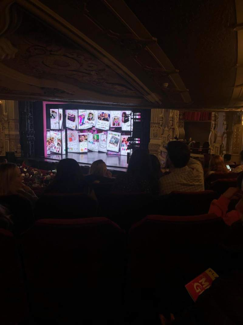 Seating view for James M. Nederlander Theatre Section Dress Circle R Row LL Seat 10