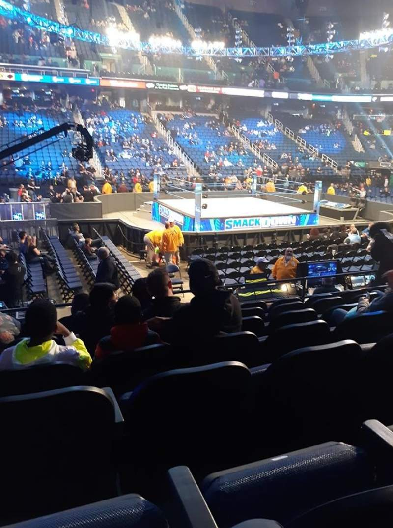 Seating view for Greensboro Coliseum Section 109 Row GG Seat 3