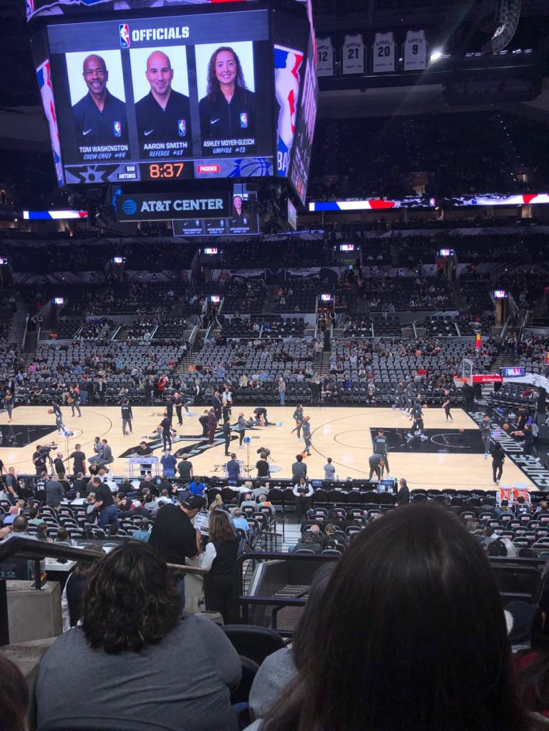 Seating view for AT&T Center Section 107 Row 25 Seat 2