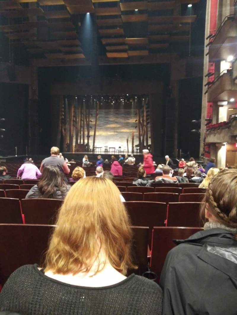 Seating view for Clowes Memorial Hall Section Main Floor Row AA Seat 213