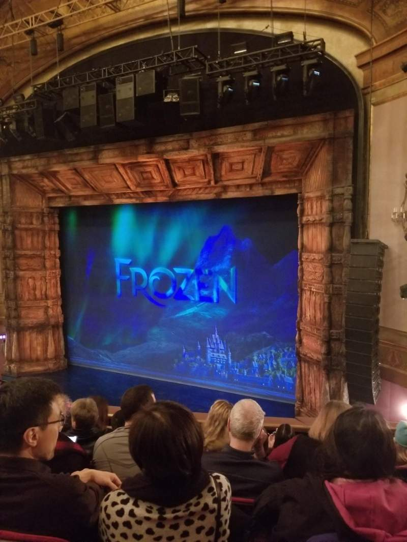 Seating view for St. James Theatre Section Mezzanine R Row F Seat 18