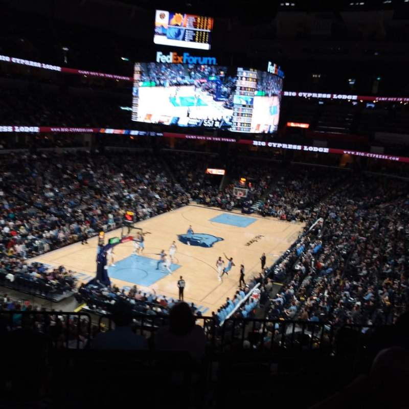 Seating view for FedEx Forum Section 102 Row HH Seat 7