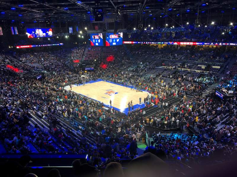 Seating view for AccorHotels Arena Section Balcon S Row 89 Seat 16