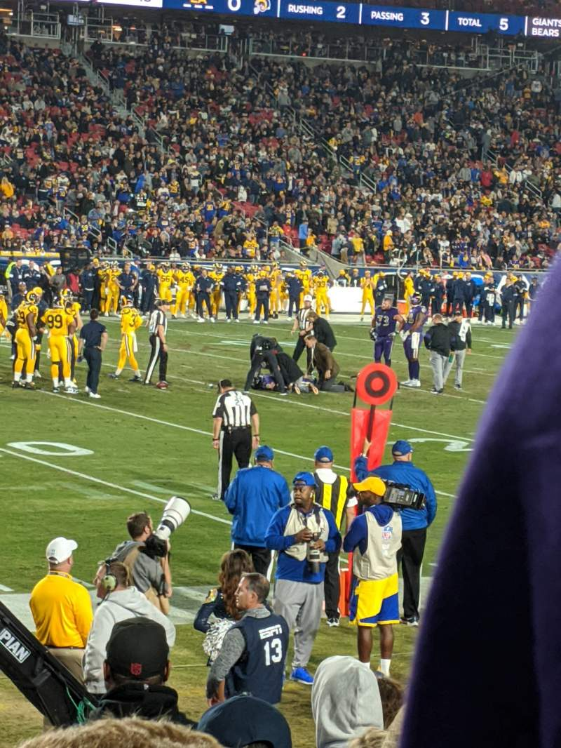 Seating view for Los Angeles Memorial Coliseum Section 124b Row 10 Seat 12