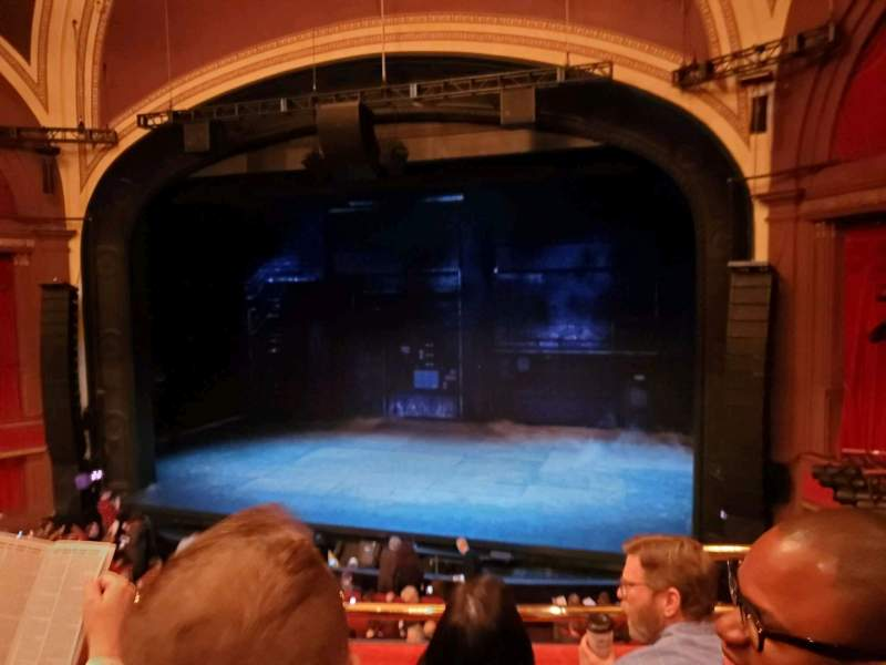 Seating view for Broadway Theatre - 53rd Street Section Front Mezzanine RC Row C Seat 121