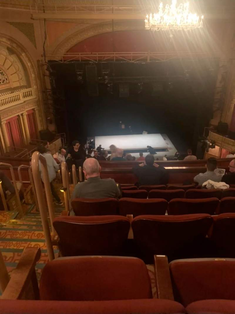 Seating view for Ethel Barrymore Theatre Section Rear mezzanine C Row F Seat 101