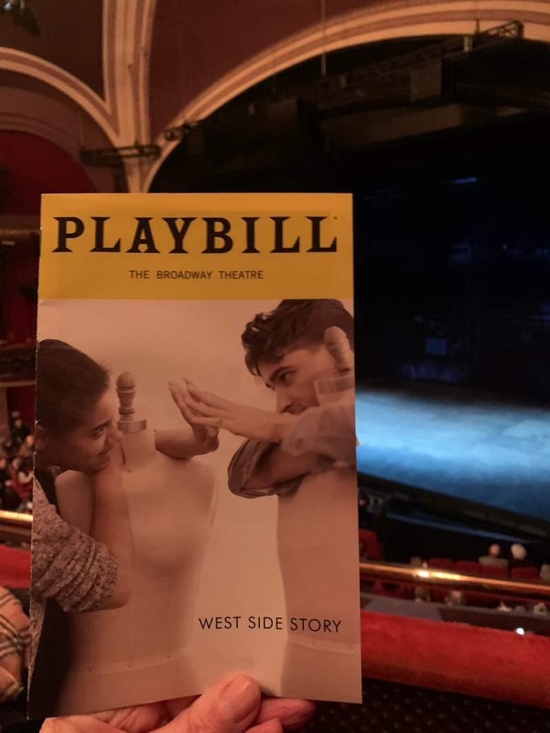 Seating view for Broadway Theatre - 53rd Street Section Front Mezzanine R Row B Seat 9