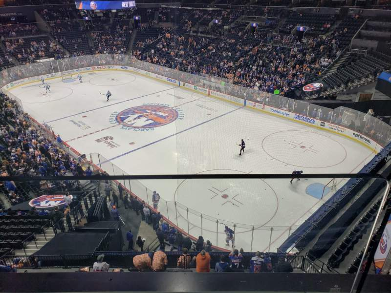Seating view for Barclays Center Section 203 Row 1 Seat 10