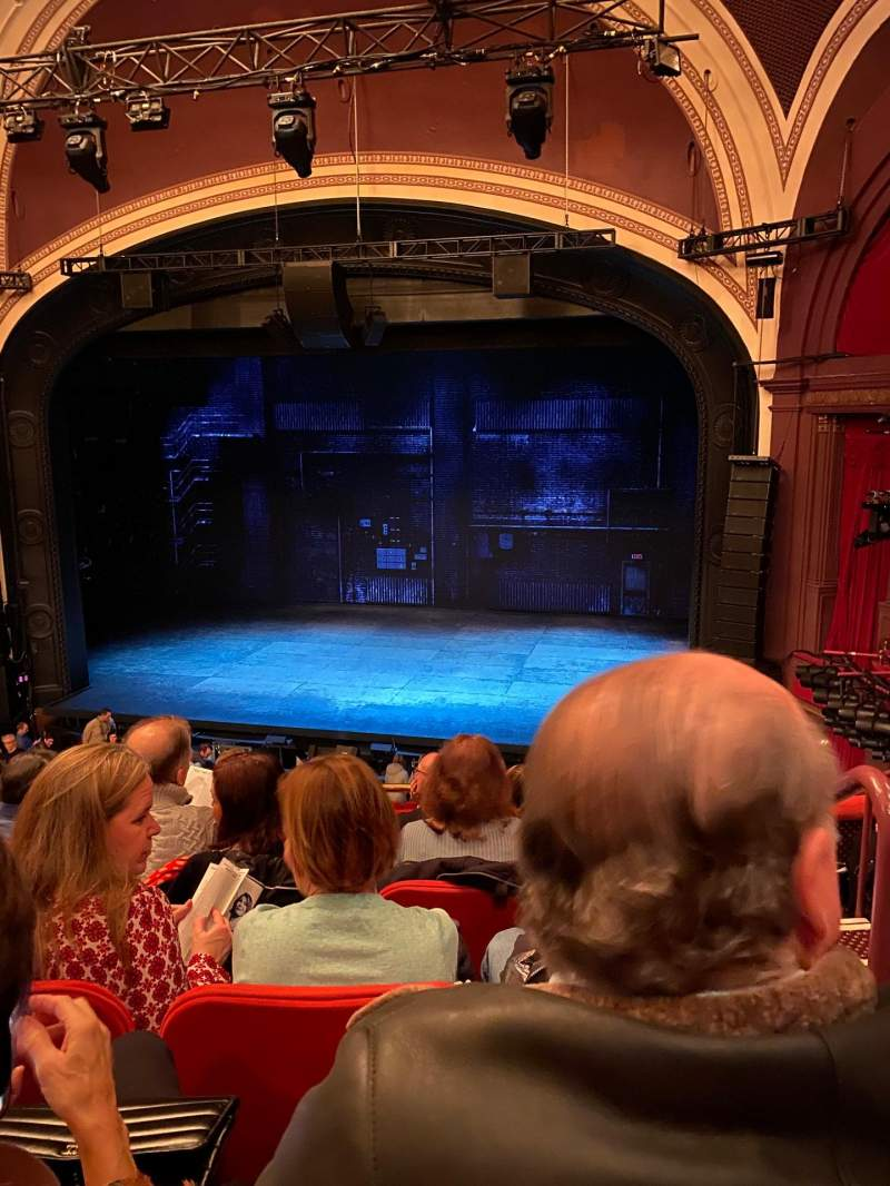 Seating view for Broadway Theatre - 53rd Street Section Front Mezzanine RC Row F Seat 123