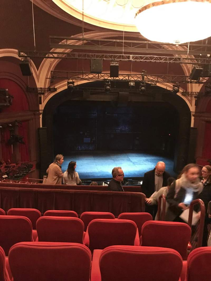 Seating view for Broadway Theatre - 53rd Street Section front mezzanine lc Row e Seat 106