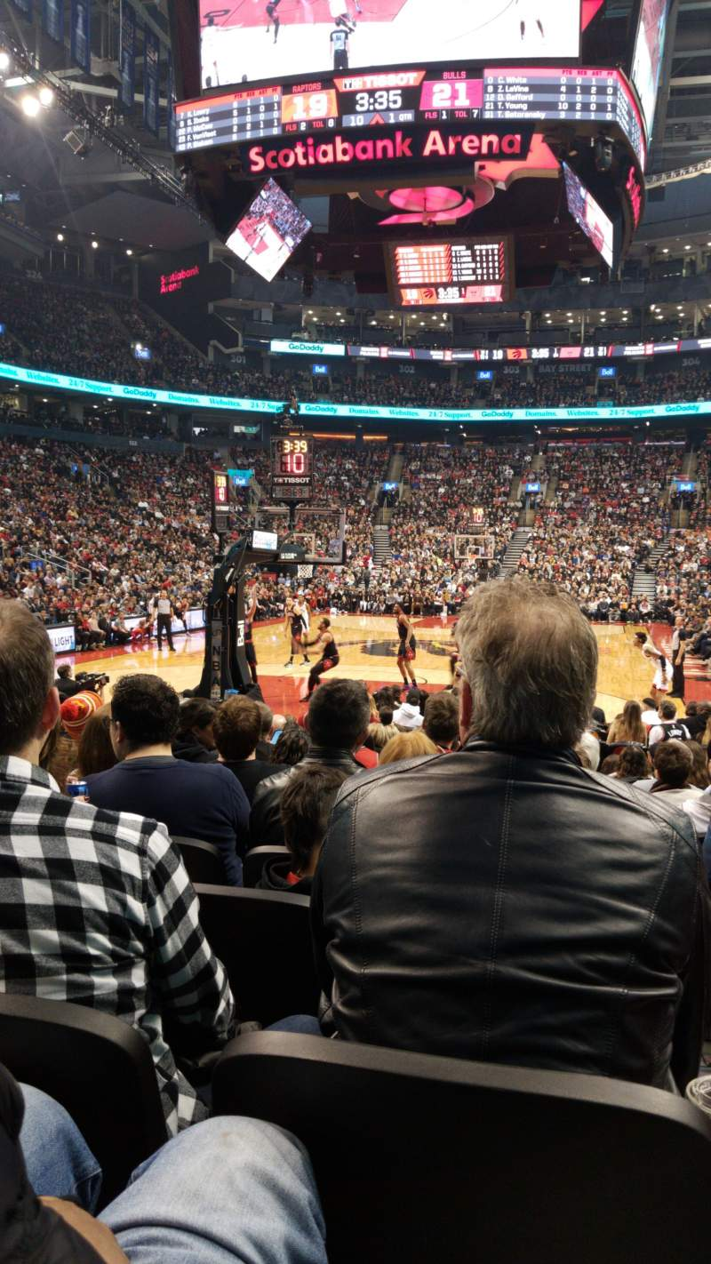 Seating view for Scotiabank Arena Section 113 Row 6 Seat 3