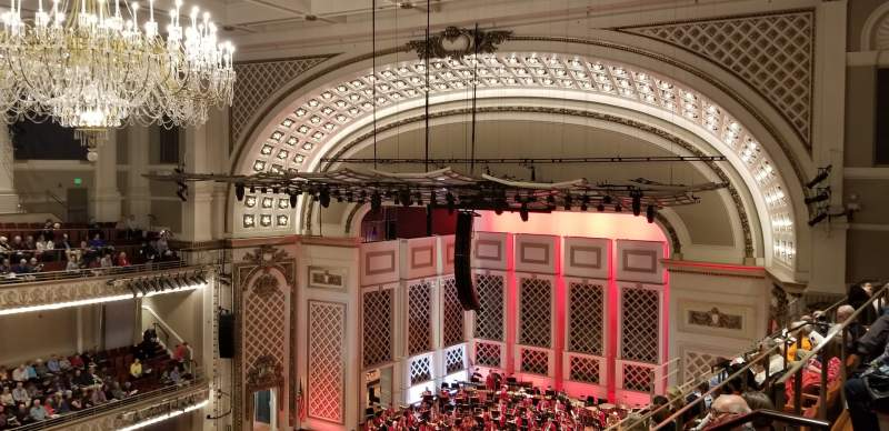 Seating view for Cincinnati Music Hall Section Gallery 5 Row F Seat 515