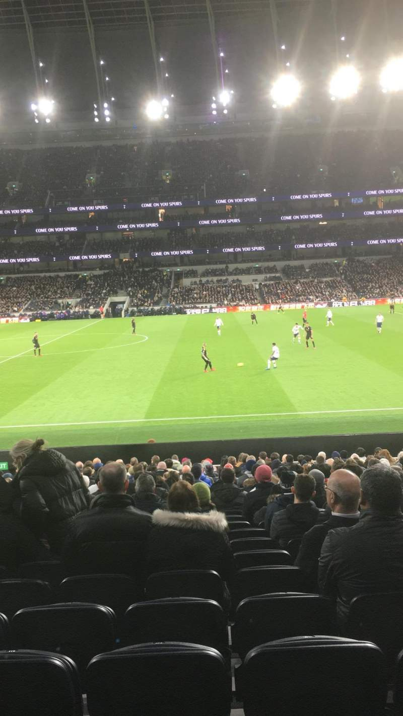 Seating view for Tottenham Hotspur Stadium Section 119 Row 18 Seat 609