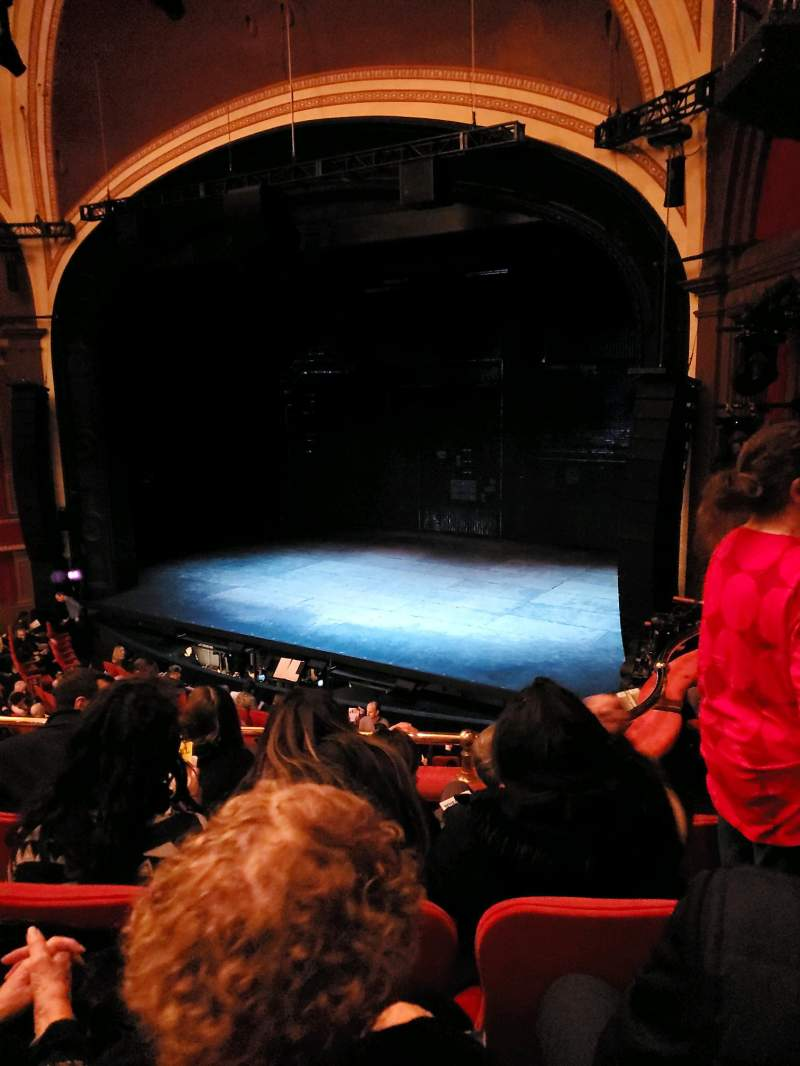 Seating view for Broadway Theatre - 53rd Street Section Front Mezzanine R Row D Seat 17