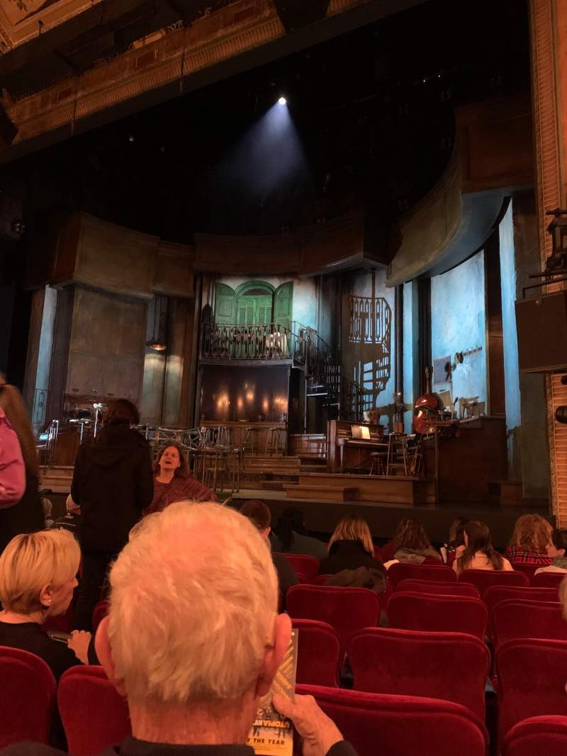 Seating view for Walter Kerr Theatre Section Orchestra R Row K Seat 8