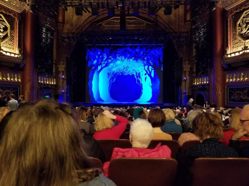 Seating view for 5th Avenue Theatre Section Orchestra C Row V Seat 110