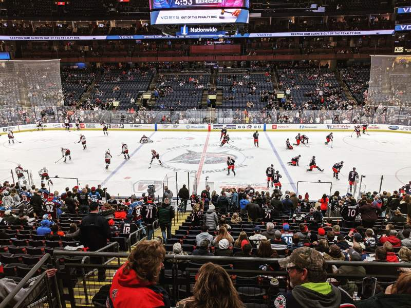Seating view for Nationwide Arena Section C3 Row A Seat 1-2