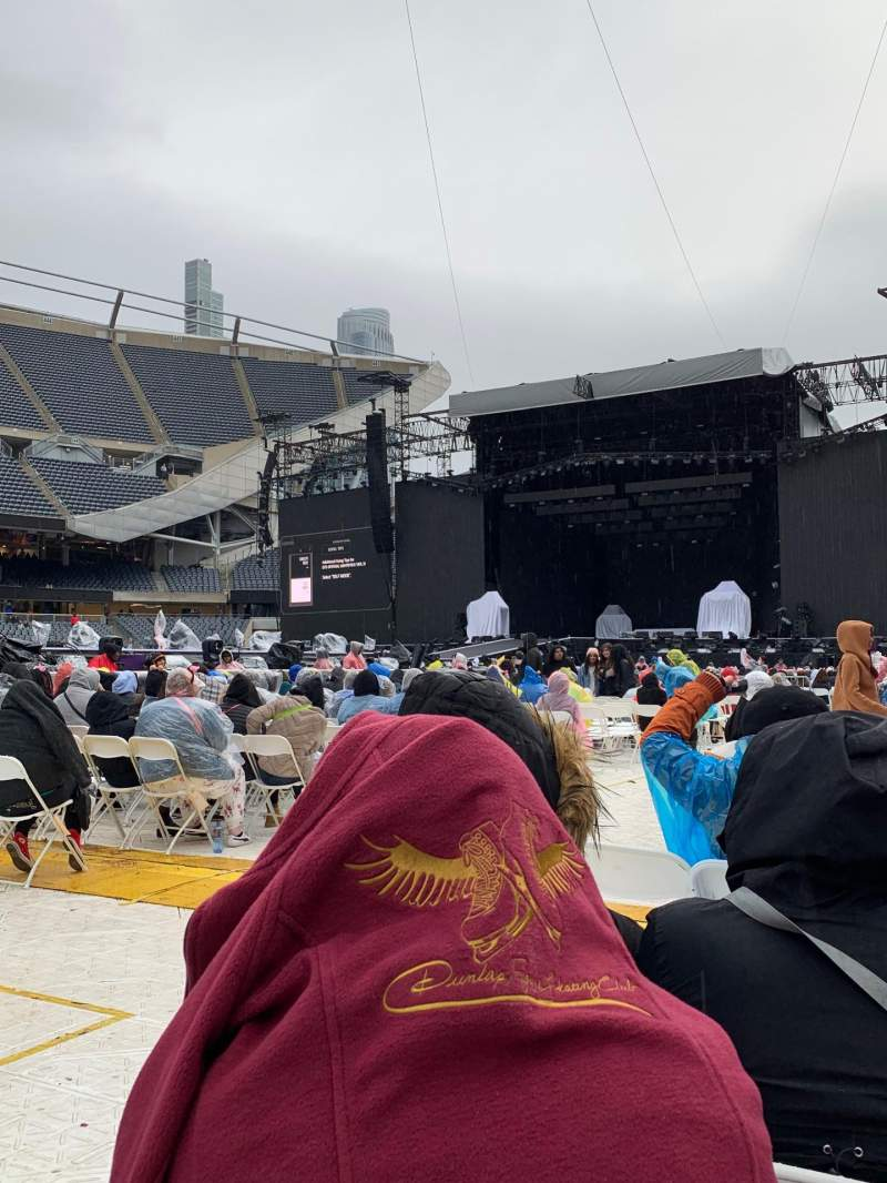 Seating view for Soldier Field Section B1 Row 27 Seat 3-4