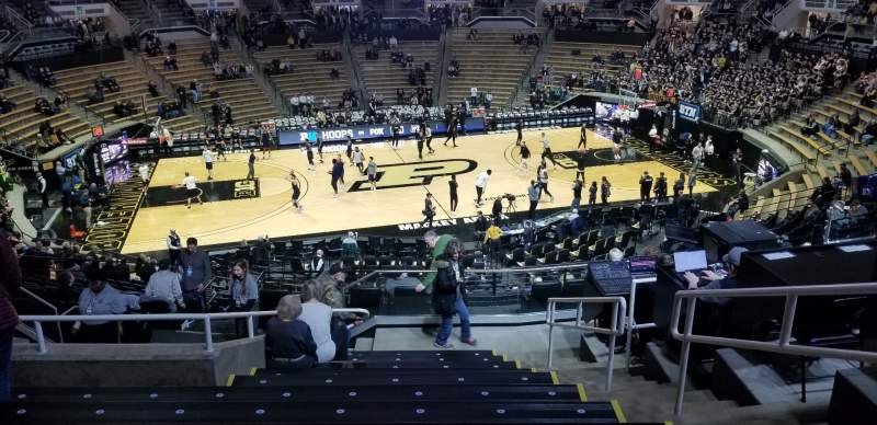 Seating view for Mackey Arena Section 111 Row 12 Seat 3