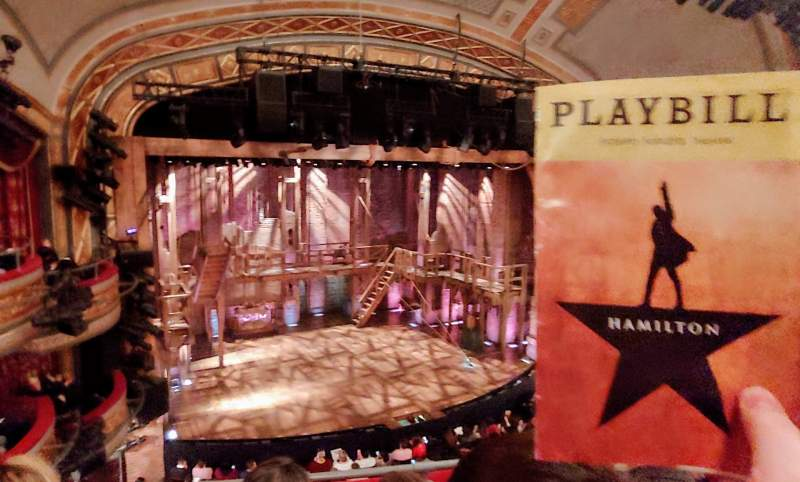 Seating view for Richard Rodgers Theatre Section Front Mezzanine C Row C Seat 113
