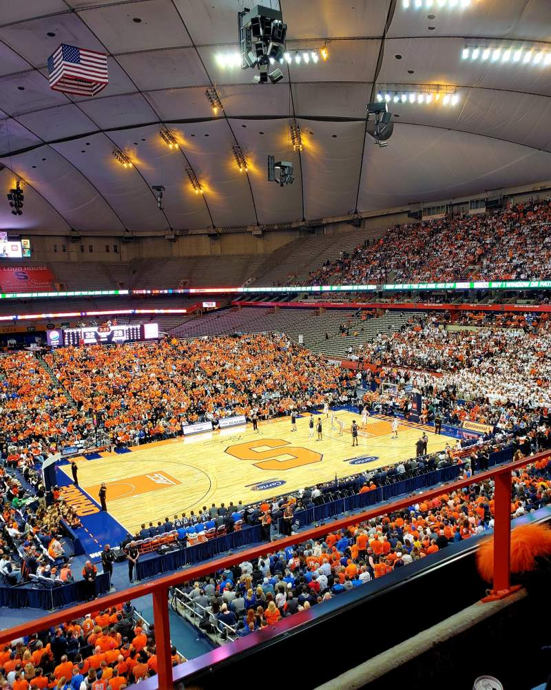 Seating view for Carrier Dome Section 312 Row B Seat 4