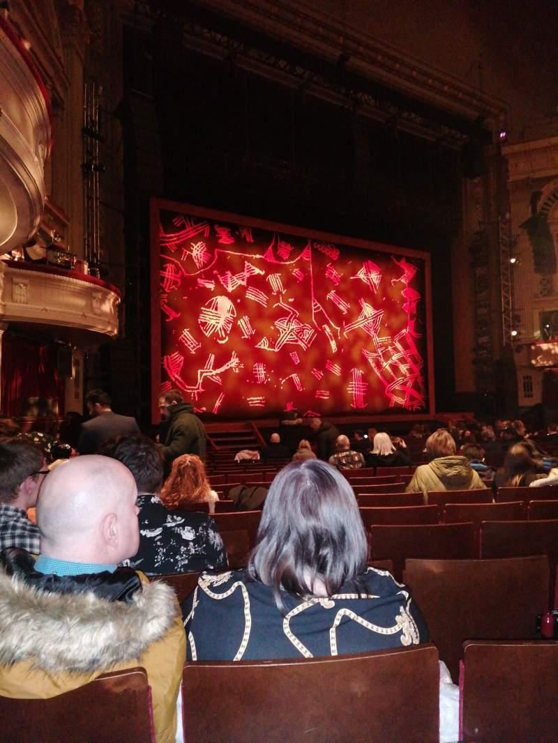Seating view for Edinburgh Playhouse Section Stalls Row U Seat 50