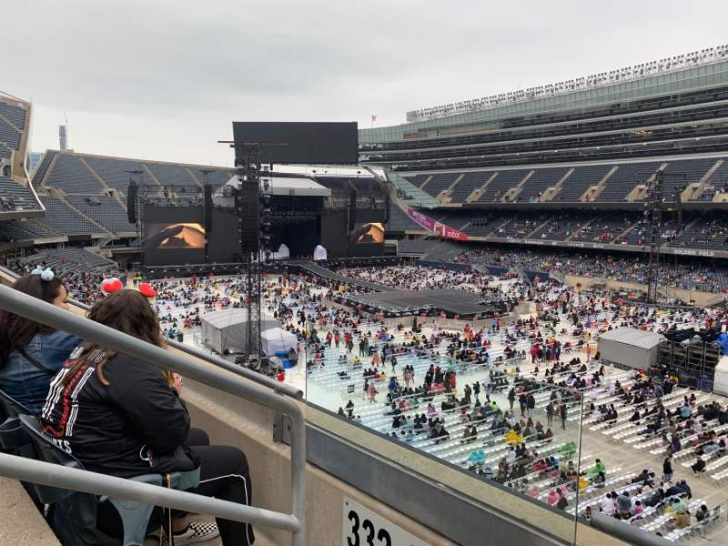 Seating view for Soldier Field Section 331 Row 2 Seat 2
