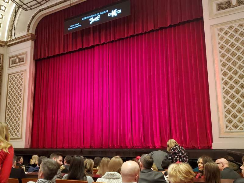 Seating view for Cincinnati Music Hall Section Orch3 Row E Seat 307