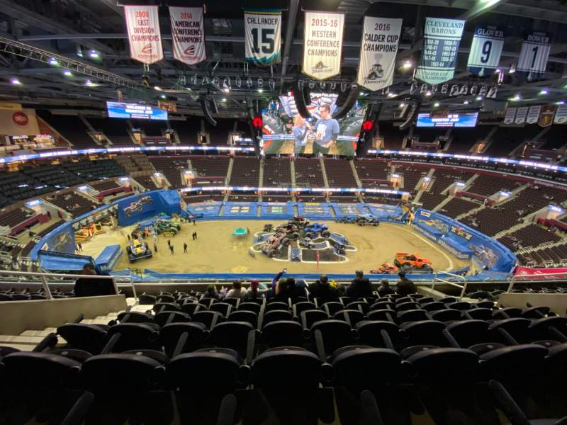 Seating view for Rocket Mortgage FieldHouse Section 210 Row 9 Seat 11