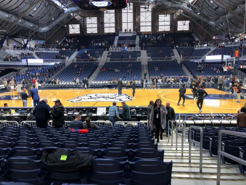 Seating view for Hinkle Fieldhouse Section 106 Row 11 Seat 1