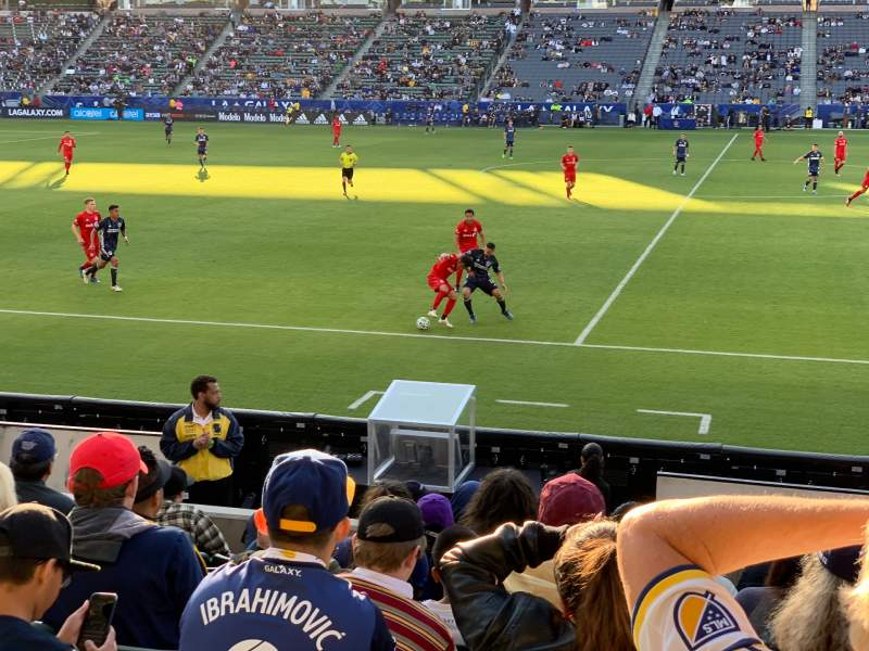 Seating view for Dignity Health Sports Park Section 132 Row J Seat 2