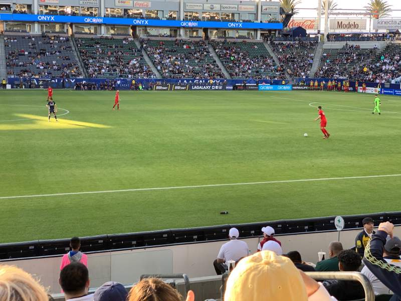 Seating view for Dignity Health Sports Park Section 132 Row J Seat 1