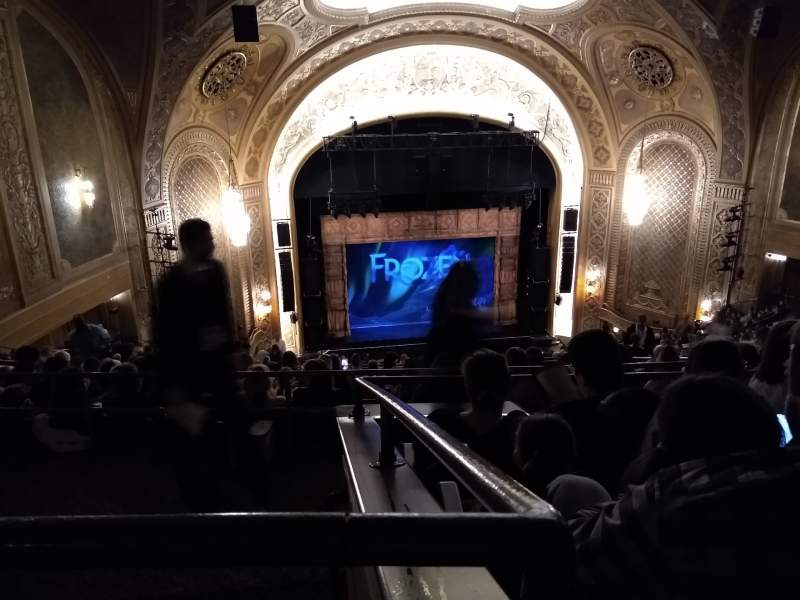 Seating view for Paramount Theatre (Seattle) Section Mezzanine 34 Row V Seat 6