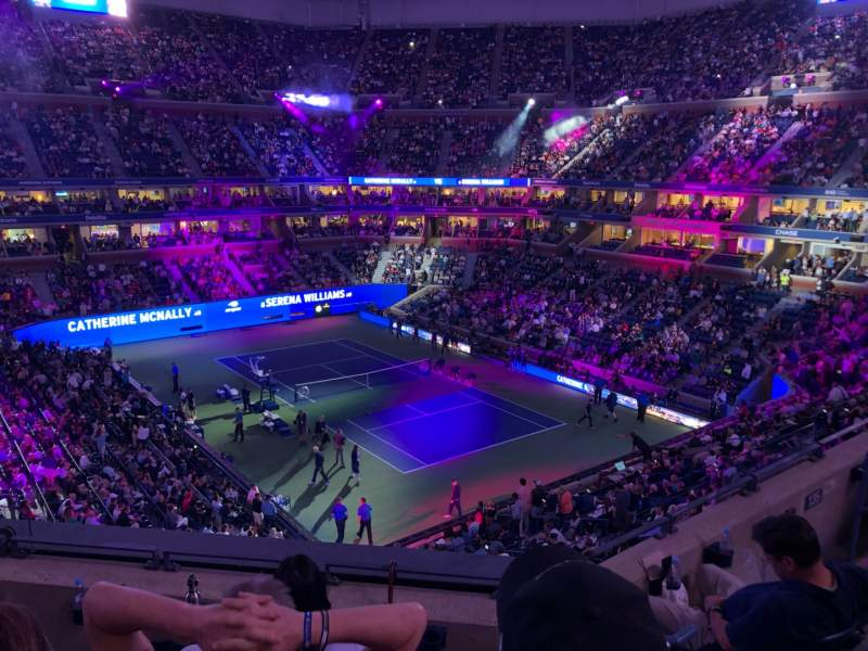 Seating view for Arthur Ashe Stadium Section 134 Row D Seat 1