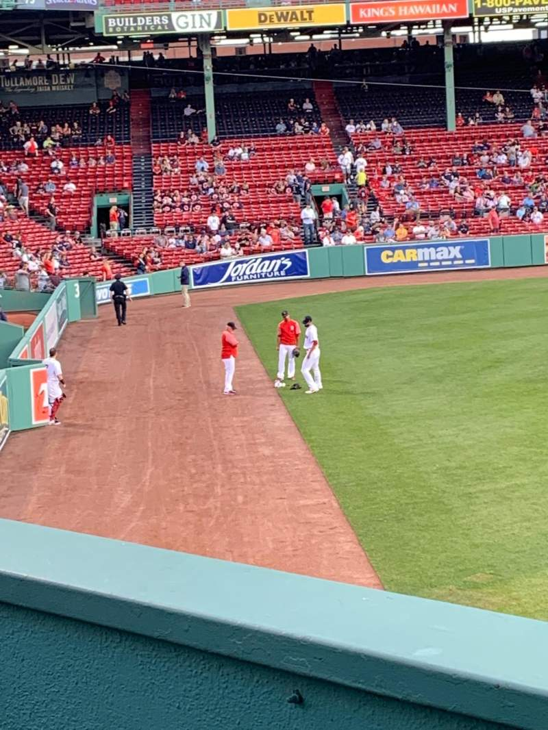 Seating view for Fenway Park Section Bleacher 36 Row 1  Seat 12