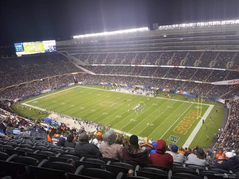 Seating view for Soldier Field Section 431 Row 12 Seat 14-16