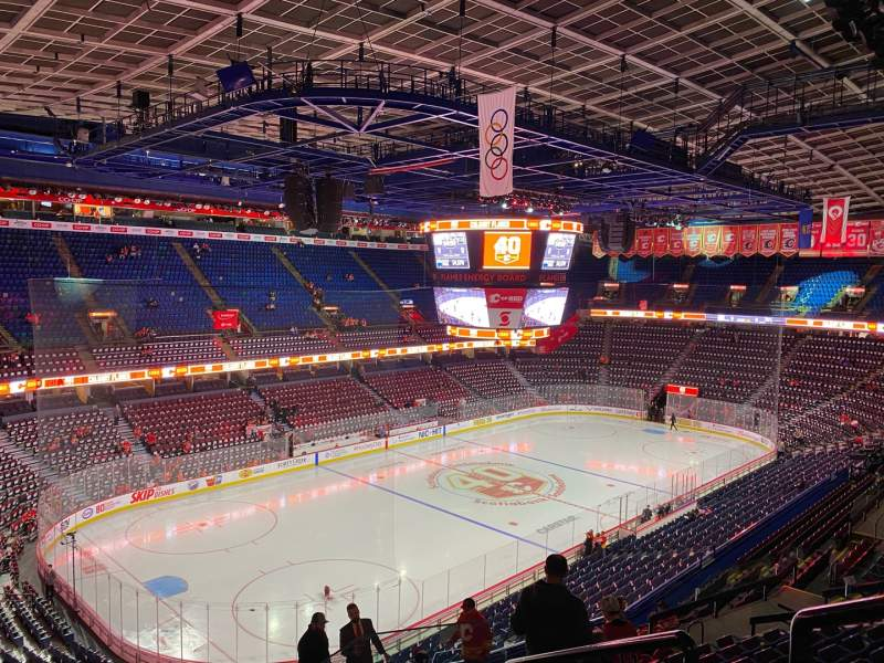 Seating view for Scotiabank Saddledome Section 222 Row 15 Seat 15